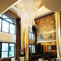 Hybrid-type stair large pendant light crystal pendant light bedroom lamp dining room pendant light led lighting