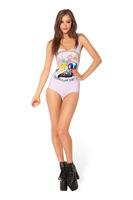 2014 Dream kay dress speed sell through creative magic cartoon printing Conjoined bikini swimsuit YY029