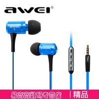 Awei ts-130vi smart earphones wire bass belt microphone