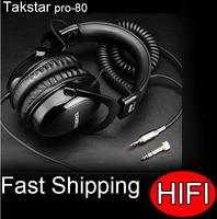 Free Shipping New 2014 Takstar pro 80 HIFI headphones game professhional  headset dj earphones auriculares brand sound earbuds