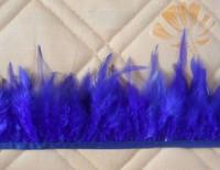 Wholesale 11yards Beautiful pheasant Neck Feather Fringe Trim Blue Color 4-6inch