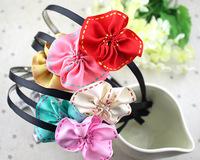 Korea fabric   lower headband baby girls headbands hair accessories flower headdress  wholesale  12pcs/lot free shipping