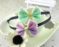 2014 New  bowknot lower headband baby girls headbands hair accessories flower headdress  wholesale  12pcs/lot free shipping