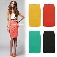 New Spring Summer 2014 European Brand Women OL Pencil Knee-Length Skirts Womens Mini Skirt Plus Size S- XXL SK012