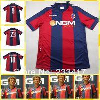 New 2013/14 Bologna Home BIANCHI DIAMANTI MOSCARDELLI Soccer jersey top 3A+++ Thai quality Bologna red Blue Football shirt