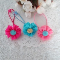 Sheer sweet child flower headband hair rope hair accessory 245