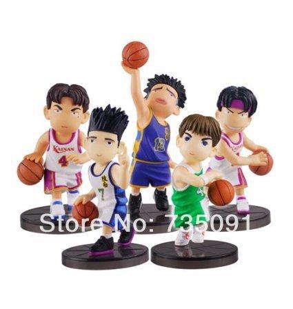 5pcs/set Model Slam Dunk Rival of Shohoku Team Doll Car Ornaments(China (Mainland))