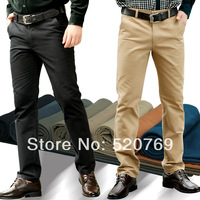 2014 male 100% cotton spring and autumn slim men's clothing long trousers commercial straight casual pants trousers