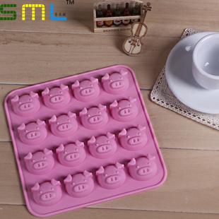 Min $10 Mixed Order 16 shote head portrait silica gel chocolate ice cube tray mould diy handmade soap cake mould food fda(China (Mainland))
