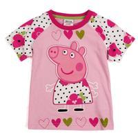 New 2015 hot kids wear clothing fashion 100% cotton short sleeve t shirt printer peppa pig children clothing free shipping