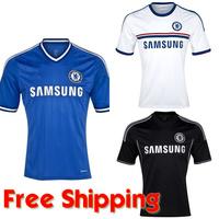 Chelsea Jersey 13 14, Chelsea FC 2014 Home/Away/Third Soccer Kit, Torres Hazard Lampard Oscar Football Shirt/Shorts/Uniform