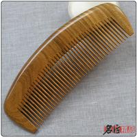 16cm guaiacum green sandal wood comb