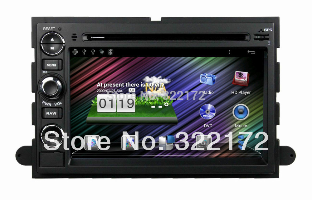 """7"""" Car Radio Audio DVD Pure Android 4.0 GPS WiFi TV 3G iPod BT For FORD Fusion Explorer F150 Edge Expedition 06~09 Free Shipping(China (Mainland))"""