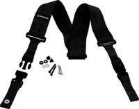 Dimarzio dd2200bk nylon cliplock guitar suspenders black