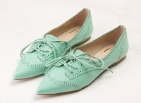 Free shipping ! Wholesale! 2014 the new candy color sheepskin women flat shoes, Oxford shoes-wj