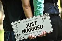 2014 new fashion Customize Wedding car decoration wedding room decor wedding favors  -JUST MARRIED -free shipping