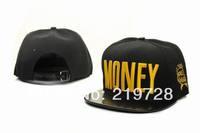 HOT!2014 new Money adjustable baseball snapback hats for men and women brand sports hip pop caps fashion sun hat wholesale cheap
