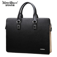 Man bag cowhide male casual shoulder bag handbag business bag briefcase