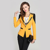 Женский костюм Spring Fashion Women Blazer Long Sleeve Slim Suit Jacket Ladies Bow Blazer Plus Size XXL C15
