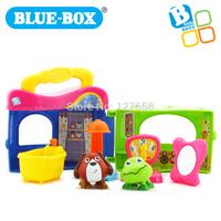 Blue box animal dolls toy Pet Grooming Salon 001096