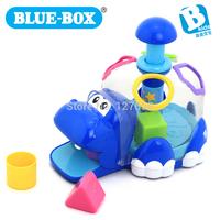 Blue box child  shape box baby color hippopotami  073671