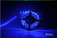 Non-Waterproof 2*5m 10M 3528 300led 60led meters 12v led flexible strip white blue
