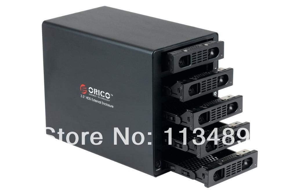 ORICO 3559RUS3 5 Bay 3.5inch USB3.0 & eSATA to SATA Hard Disk Drive Case HDD RAID Enclosure(China (Mainland))