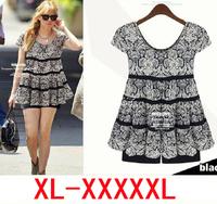 XXXXXL 4XL 5XL female shirt new 2014 plus size summer women clothing Loose Casual chiffon shirt women Blouses XXXXL sheer shirts