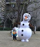 2014 Frozen costume Frozen Dress Olaf Snowman Mascot Costume Cartoon Character Costumes Fancy Dress Suit Free Shipping