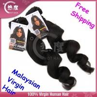 Free shipping 5A  Loose Wave Virgin Malysian Hair 100% Maysian Human Hair Extension 5A Grade