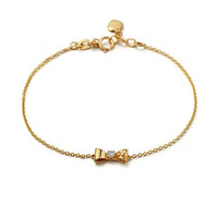 TSL03 / Bow Bracelet  Rose Gold Plated Free Shipping