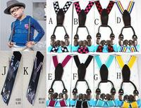 Four clip straps Adjustable baby children Suspenders baby Elasti Braces Kids boys Suspenders,Size 2.5*70 CM,10 colors,20pcs/lot