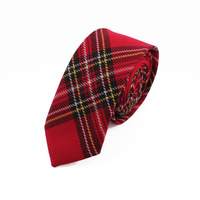 2014 free shipping Cotton red plaid 5cm tie casual male women's student school uniform
