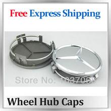 Wholesale - 3 inch wheel rim center hub caps for MERCEDES BENZ C E S CL ML SL SLK CLK CLASS MERC 75mm centre caps Free Shipping(China (Mainland))