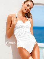 New One Piece Push Up Swimwear For Women, Pin Up Triangle Halter Brand Monokini Swimsuit, High Waist maillot de bain