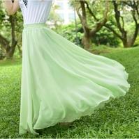Free shipping 2014 Summer chiffon pleated skirt bust skirt big skirt fairy Dress S-4XL
