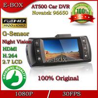 2014 New AT550 Car DVR Camera Full HD 1080P 30FPS HDMI H.264 G-Sensor Novatek 96650 Supre Night Vision 2.7'' LCD Free shipping