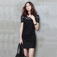 New 2014  Women summer dress 2014 Casual Dress  Lace Patchwork Winter Dress  SI048