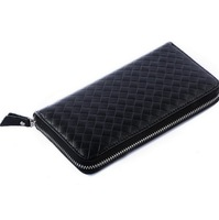 2014 Brand name genuine leather man's wallet long design purse cow leather wallets original gift box packaging