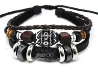 A0490 2014 New Wrap Genuine Cow Leather Cuff Bracelets & Bangles Men Jewelry for Women Wholesale 50PCS/LOT