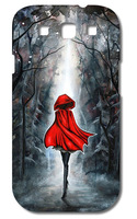 1PC Girl In Red Hard Case Cover for Galaxy S3  I9300 SIII  free shipping