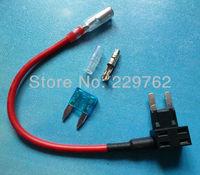 Free Shipping 200PCS NEW Add A Circuit Fuse Tap Piggy Back MINI Blade Fuse Holder ATM APM 12v 24v 12 volt