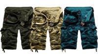 2014 summer male loose casual Camouflage carpris shorts plus size multi-pocket capris