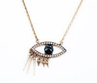 Fashion fashion accessories vintage rivet sweater necklace