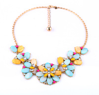 Fashion fashion accessories small fresh shell flower women's short design necklace