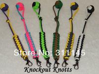 SELF DEFENSE -Metal Core- Grey Monkey Fist Keychain Ball-550 Paracord Lanyard