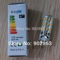 Good quality wholesale price 1000pcs G4 SMD 24 LED 3014 DC 12V 2W White warm white 360 degree Light Bulb free shipping to Brazil