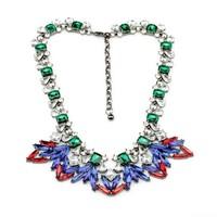 Fashion fashion accessories luxury short design flower gem necklace