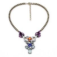 Fashion fashion accessories vintage flower drop pendant necklace