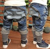 Retail ! Spring 2014 boys girls new design jeans children pants Hip hop jeans kids pants kids jeans  PT034